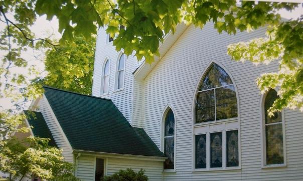 Trinity Church - photo of a photo by Sandy Zwemer