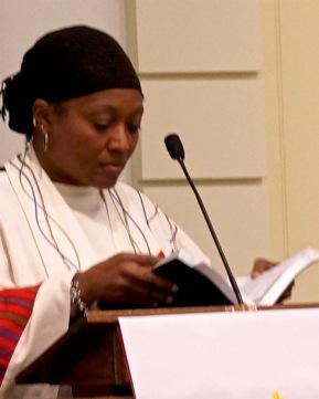 Karen Thompson preached