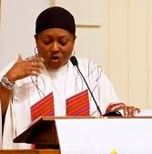 Karen Thompson preaching